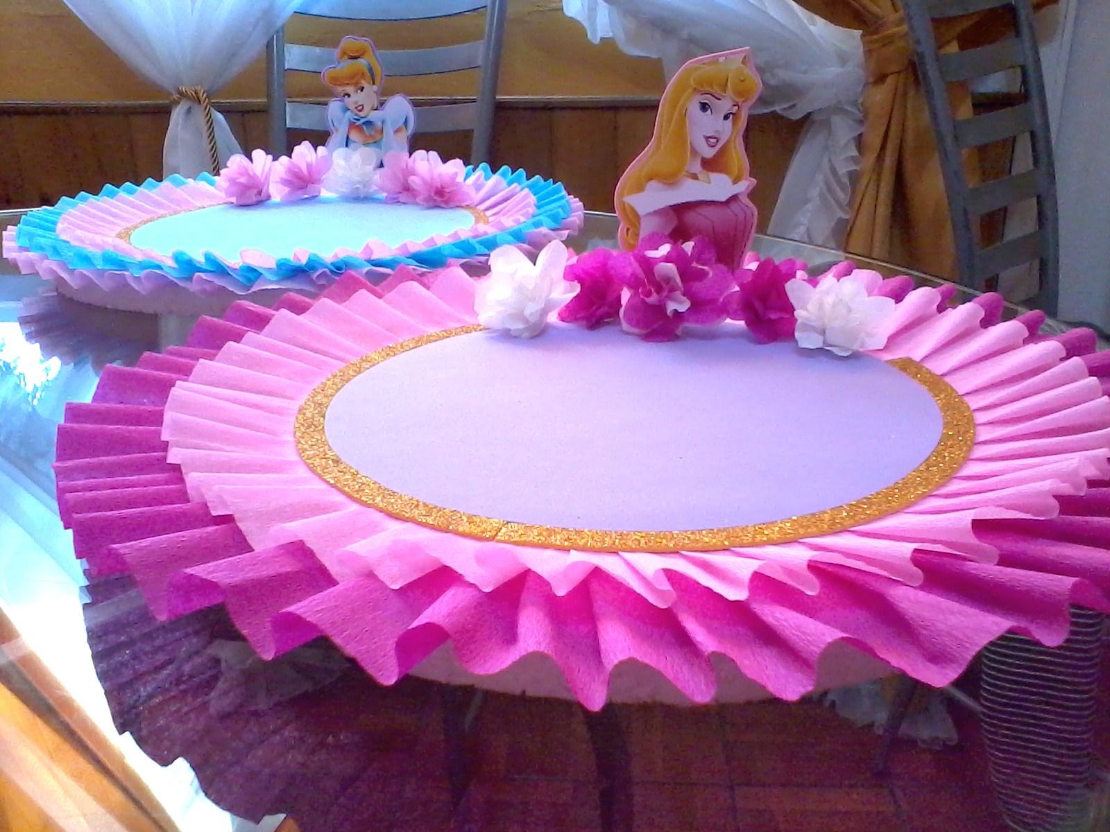 Decoraciones infantiles bandejas princesas - Fiestas de cumpleanos de princesas ...