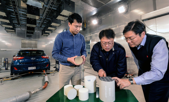 Hyundai and Kia Motors develop heat resistant, eco-friendly catalyst catalyst (Cu-LTA) that can withstand 150 degrees higher than the current catalyst