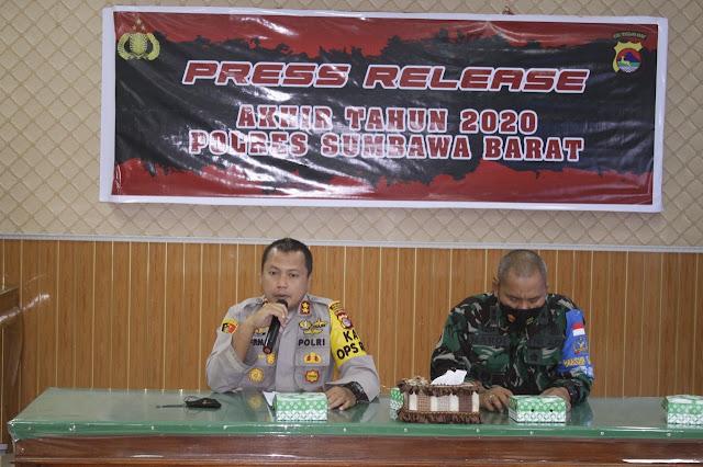 Kapolres Sebut Kasus Korupsi di Sumbawa Barat menurun, Narkoba meningkat di 2020