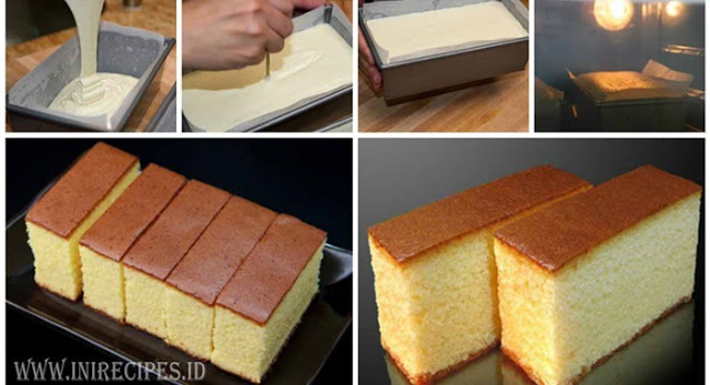 Resep Castella Cake Khas Jepang. Tampil Mewah Dengan Bahan