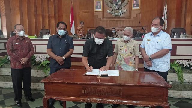 Bupati Bersama DPRD Kabupaten Asahan Menyetujui Ranperda RPJMD Kabupaten Asahan Tahun 2021 – 2026 Dijadikan Perda