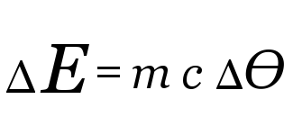 Equation for calculating change in thermal energy