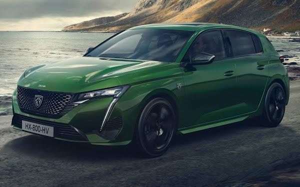 Novo Peugeot 308 2022: estilo sofisticado e híbrido para enfrentar o Golf
