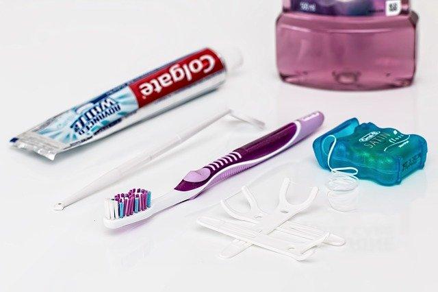 Brush teeth, floss, & drink water