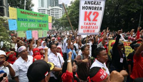 Ribuan Honorer K2 Ancam Menginap di Kantor KemenPAN-RB