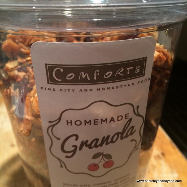 homemade granola at Comforts in San Anselmo, California