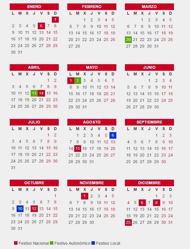 Calendario laboral madrid 2017 calendario laboral for Rea comunidad de madrid