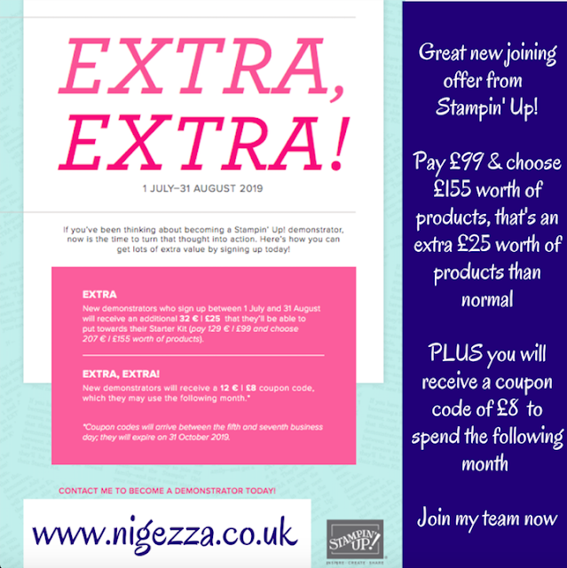 Nigezza Creates Stampin' Up! Latest Joining offer