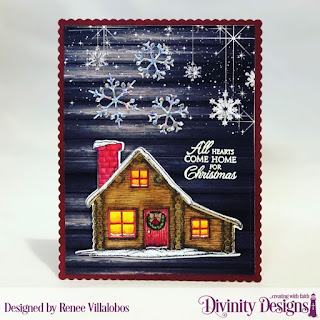 Stamp/Die Duos: Home for Christmas, Custom  Dies: Scalloped Rectangels, Christmas Dove, Paper Collection: Rustic Christmas