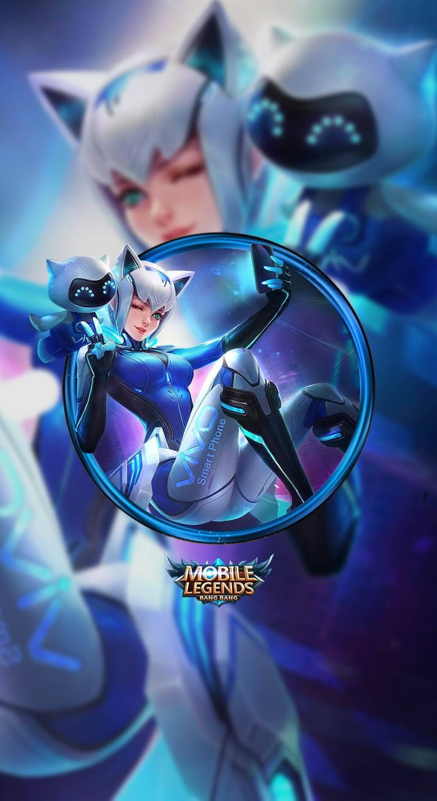 Wallpaper Eudora Vivo Selfie Goddess Skins Mobile Legends HD for Mobile