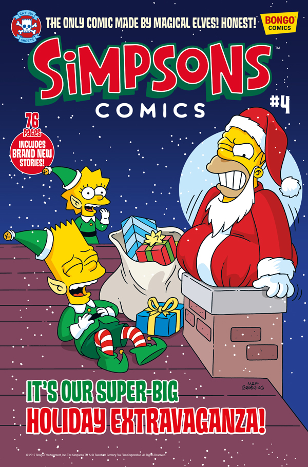 Simpsons Christmas.Blimey The Blog Of British Comics Simpsons Christmas Issue