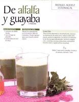 Jugos saludables alfalfa y guayaba