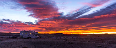 A Red Sunrise and Uraling in the Red Desert