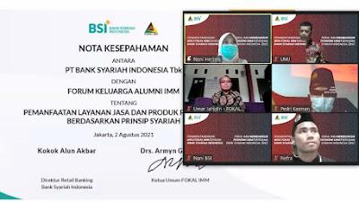 300 Pimpinan se-Indonesia, Saksikan Penandatanganan MoU Antara FOKAL-IMM dan PT. Bank Syariah