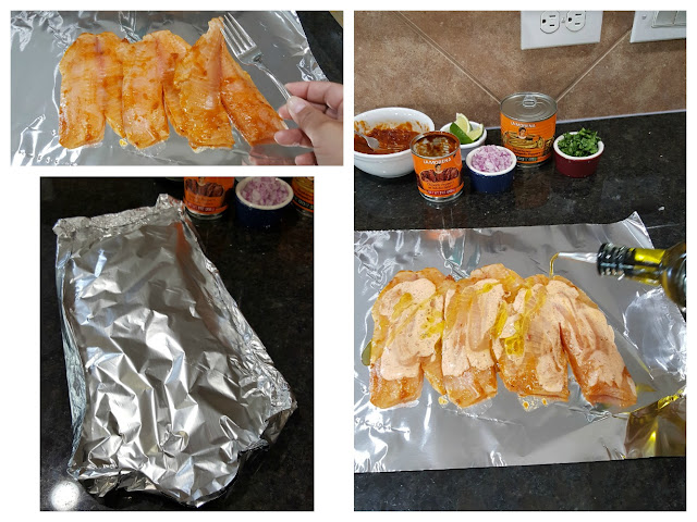 Cooking Spicy Chipotle Grilled Fish Tacos with LA MORENA® chipotle peppers in adobo sauce