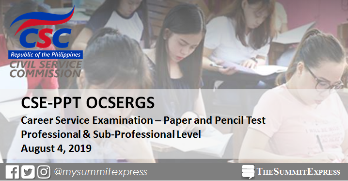 Online Verification of Rating OCSERGS: August 2019 Civil Service Exam CSE-PPT