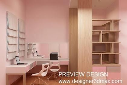 Design 3dmax Kamar Anak Photorealistic