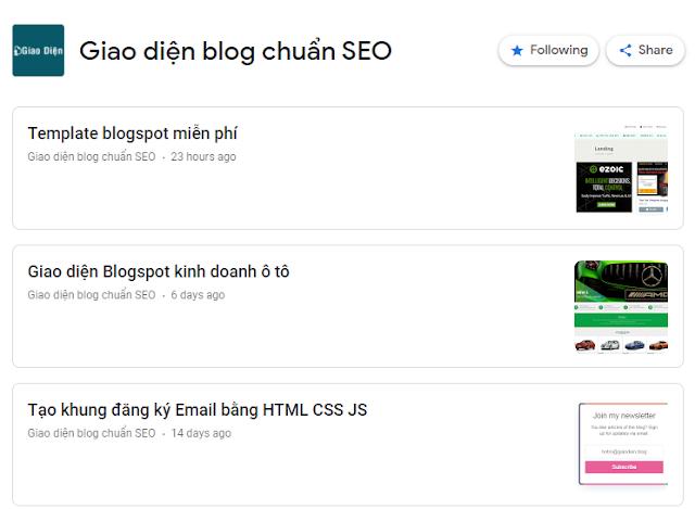 Hướng dẫn đăng ký Google News cho Blogspot