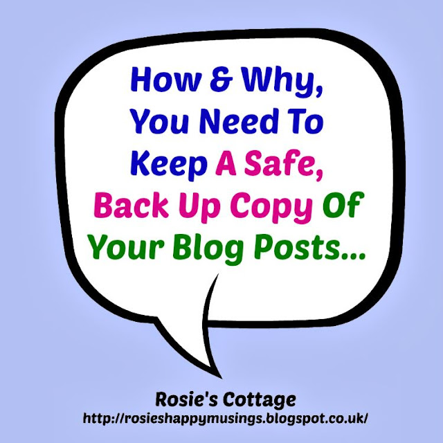 How and why you need to back up your blog