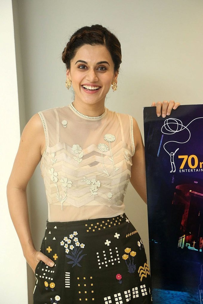 Taapsee Photos At Anando Brahma Movie Trailer Launch