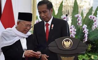Resmi, Ma'ruf Amin Cawapres Jokowi di Pilpres 2019