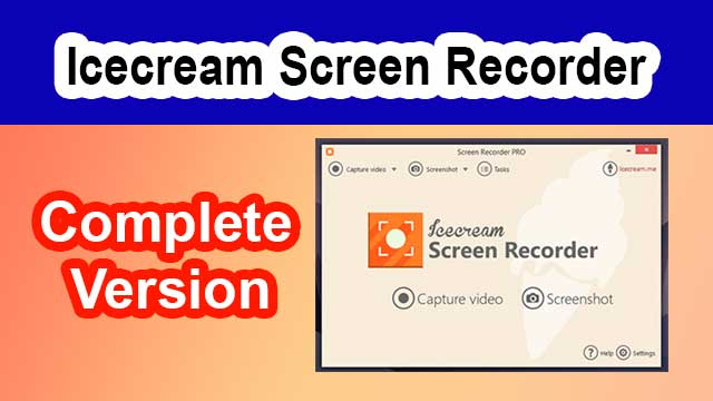 Icecream screen Recorder without watermark