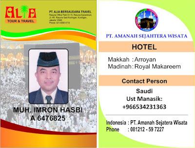 ID Card Umrah dan Kartu Pengenal di Tas