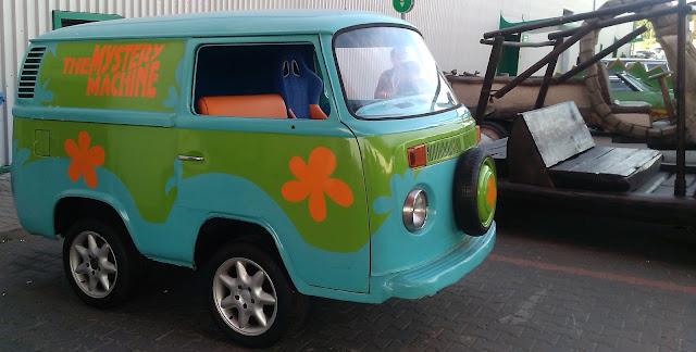Auto ze Scooby Doo na Warsaw Comic Con