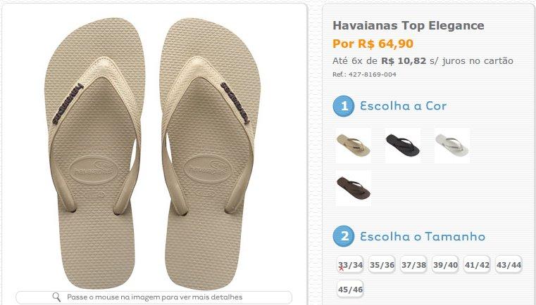 18c2de4d20 Havaianas TOP Elegance. As sandálias com tiras de couro.