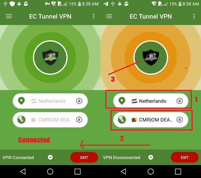 Orange Cameroon free unlimited internet with EC Tunnel