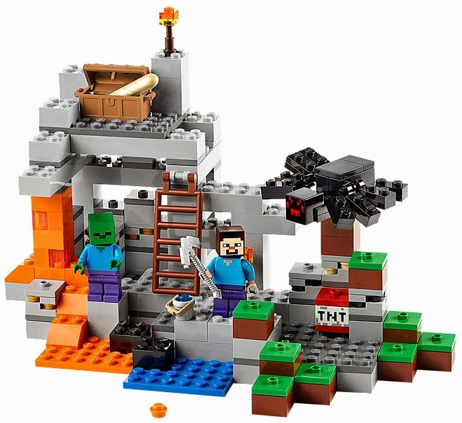 The New LEGO Minecraft sets overview The Cave 21113