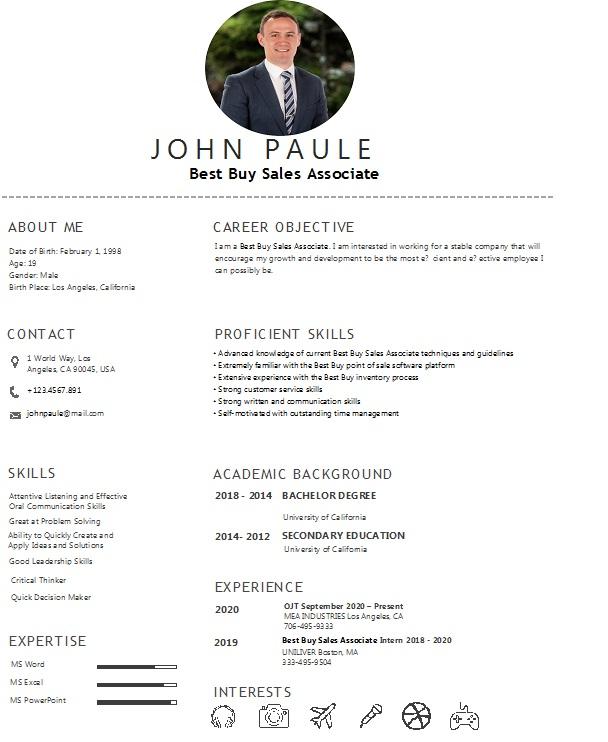 Best buy resume maker