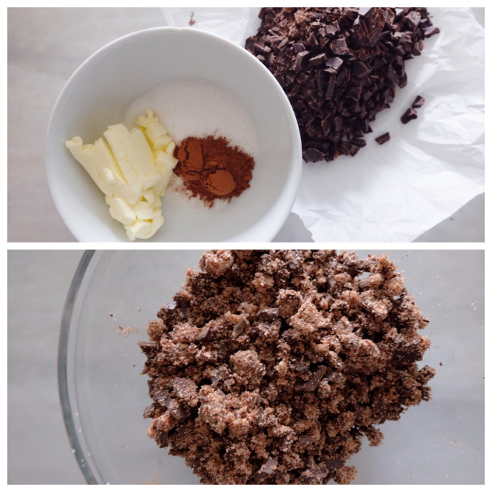 mixing filling ingredients together