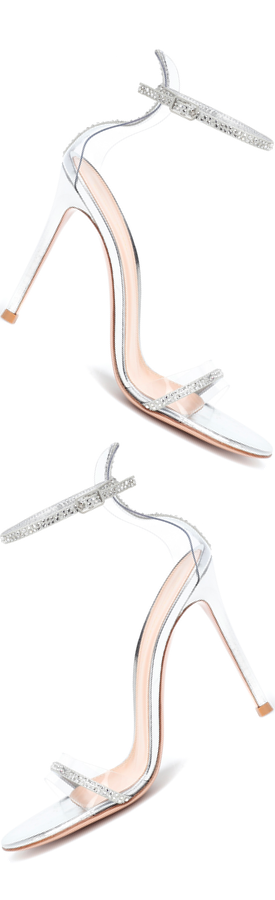 GIANVITO ROSSI Crystal Plexi 105 Sandals