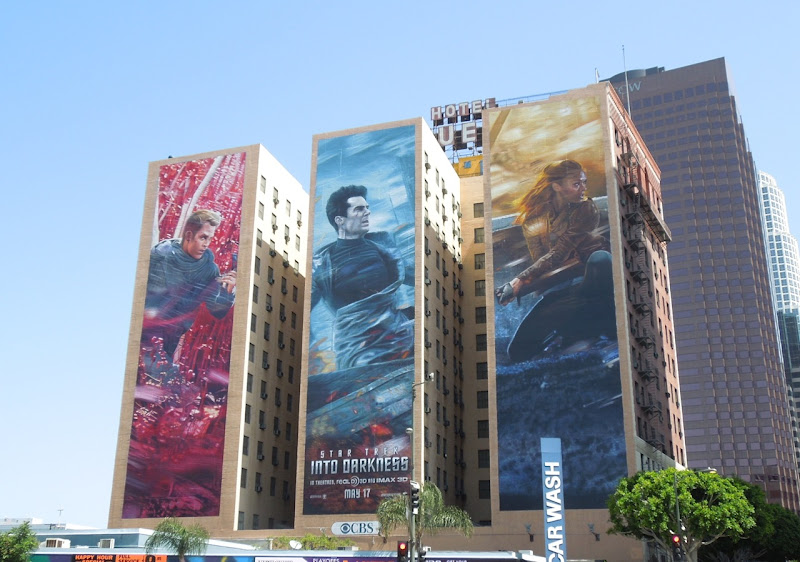 Giant Star Trek Into Darkness movie billboards