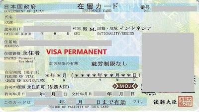 Visa permanent ke jepang