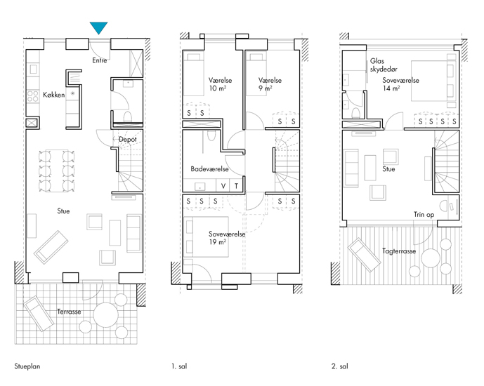 Plan maison carr e plain pied for Plan maison plain pied 85m2