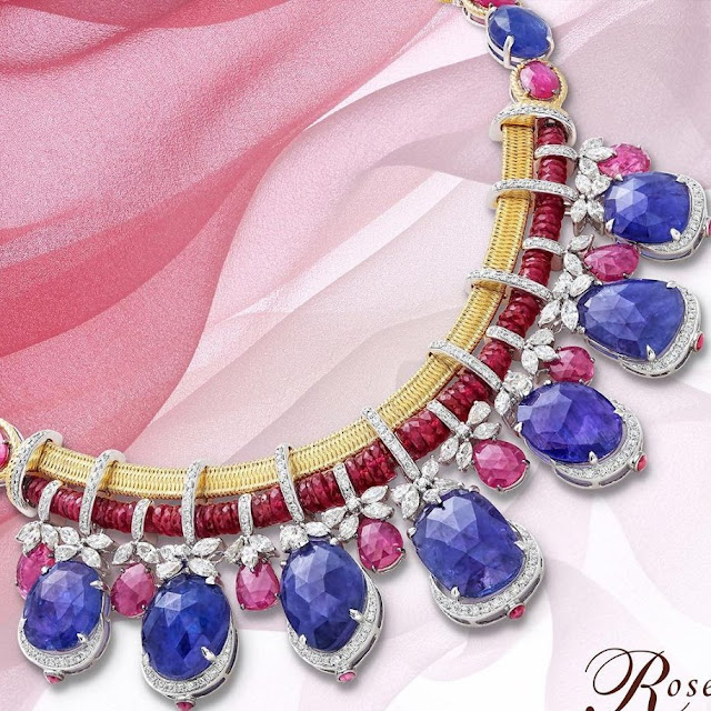 Blue Sapphire Choker with Ruby