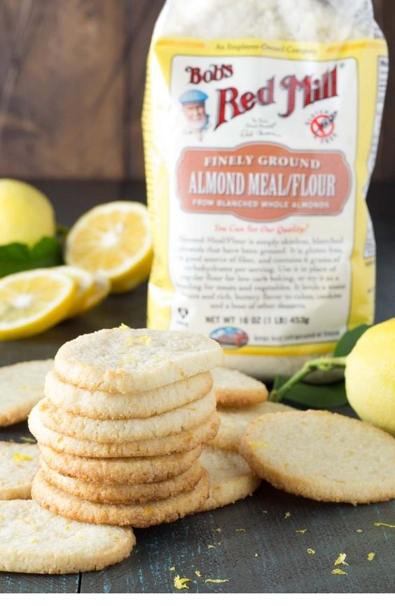Lemon Almond Flour Shortbread Cookies