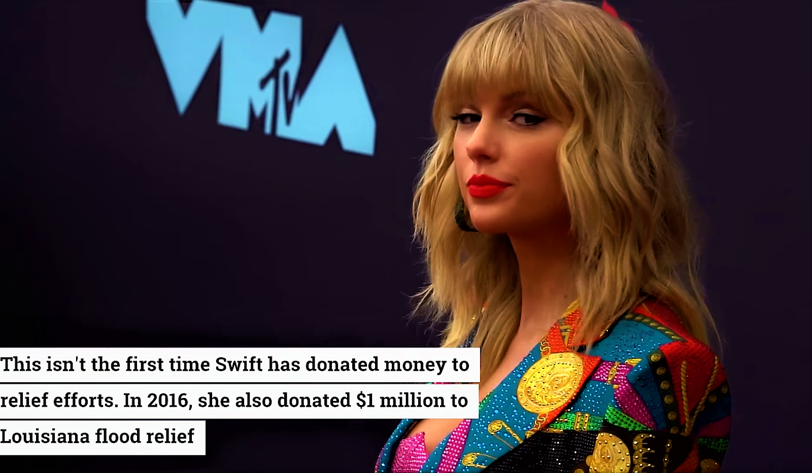Taylor Swift donates one million to Tennessee Tornado Aid.