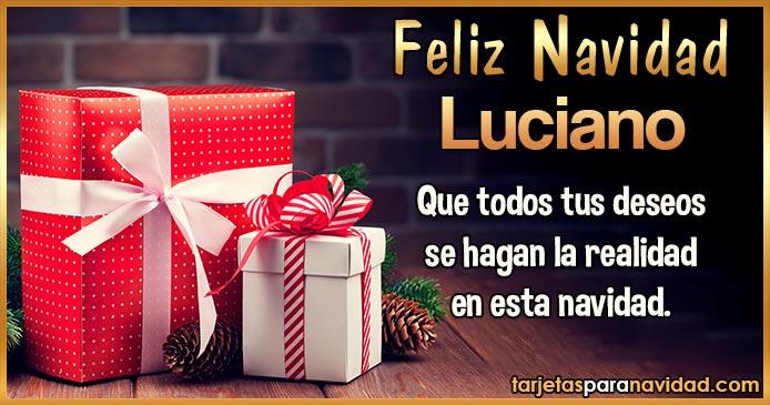 Feliz Navidad Luciano