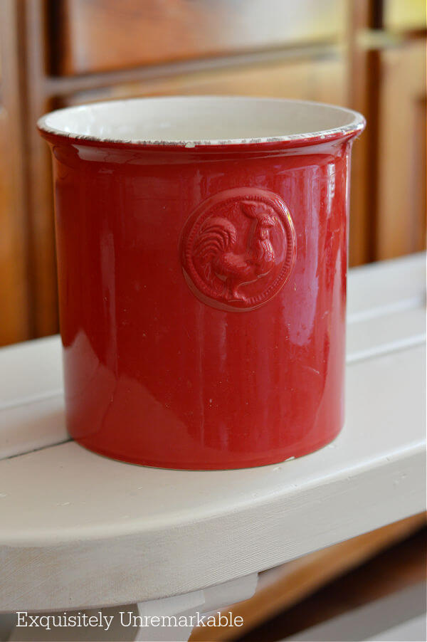 Red Rooster Crock
