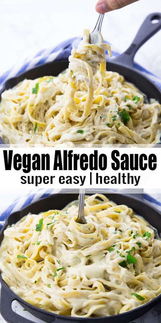 This vegan Alfredo sauce is the perfect comfort food! It's so incredibly creamy and rich without being packed with butter and cream like traditional Alfredo sauce. And it's super easy to make. 25 minutes is all you need!