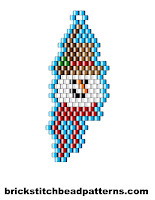 Click to view the Snow Man Smiling brick stitch bead pattern charts.