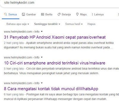 Lamanya artikel blog terindeks mesin pencari google