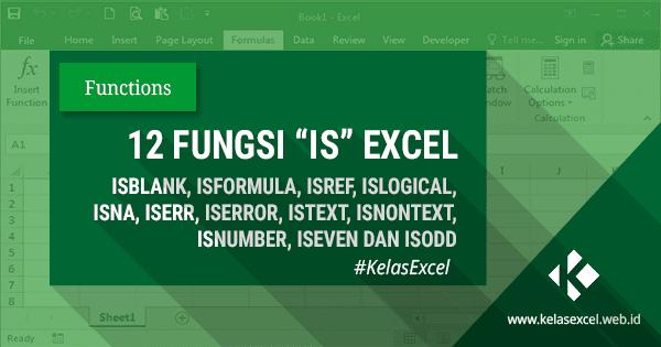 12 Fungsi IS (ISNA, ISBLANK, ISTEXT, Dll) Pada Microsoft Excel