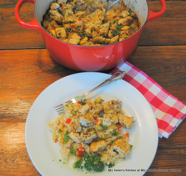 Vegetable Rice Chicken Bake at Miz Helen's Country Cottage