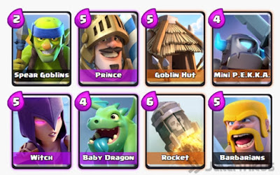 Kumpulan Battle Deck Clash Royale Arena 3 Terbaik (Winning Strategy) Offensive