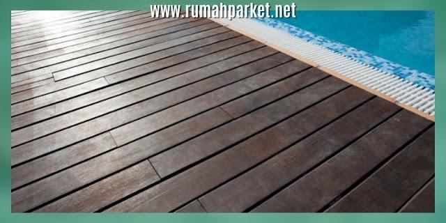decking samping kolam renang - dcking con wood