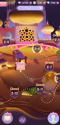Story map of the Full Moon Kingdom, inspired by Disney's Agrabah
